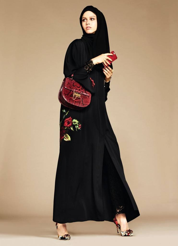 7-exclusive-dolce-gabbana-abaya-line-742x1024 Dolce & Gabbana Hijab and Abaya Collection 2019-Branded Girls