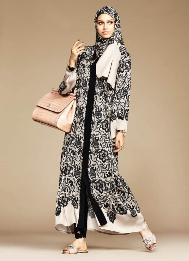 9-exclusive-dolce-gabbana-abaya-line-742x1024 Dolce & Gabbana Hijab and Abaya Collection 2019-Branded Girls