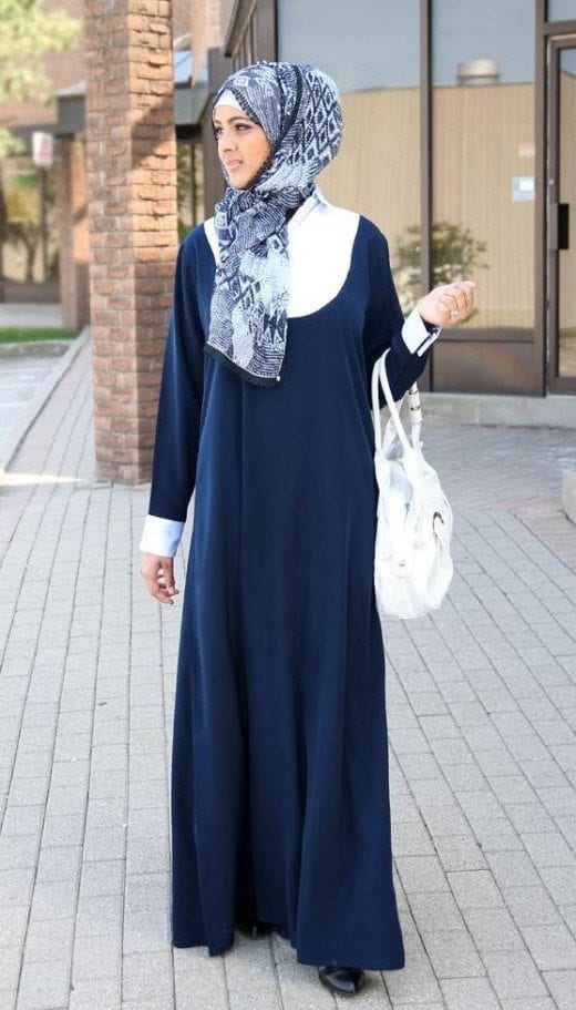 Cool-Colored-Abaya 2019 Abaya Fashion-20 Latest Abaya Style Designs for Beautiful Look