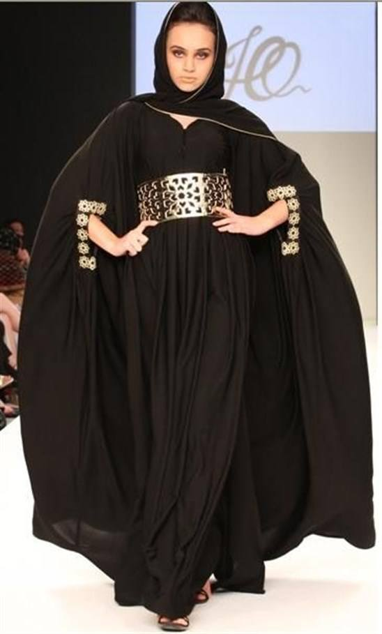 Metallic-Looked-Abaya 2019 Abaya Fashion-20 Latest Abaya Style Designs for Beautiful Look