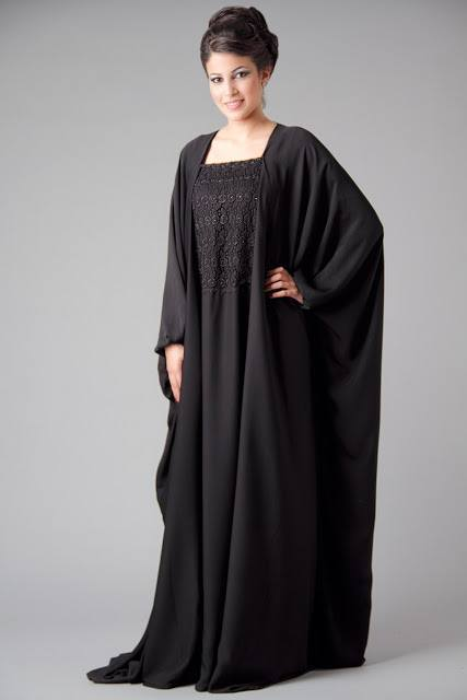 Plain-Abaya 2019 Abaya Fashion-20 Latest Abaya Style Designs for Beautiful Look