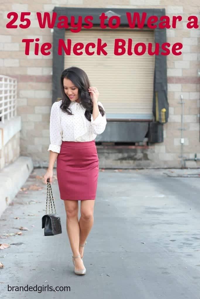 Tie-Neck Blouses