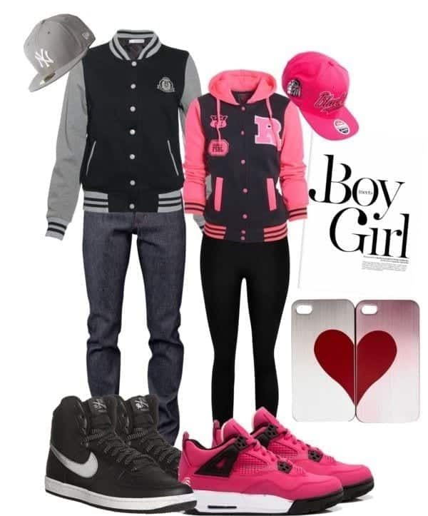 c2 20 Cute Matching Outfits for Couples-Boyfriend Girlfriends