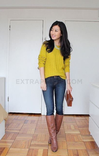 d49d36bc366f2f466a7dce3c1565298a Brown Boots Outfits-18 Stylish Ways to Wear Brown Boots
