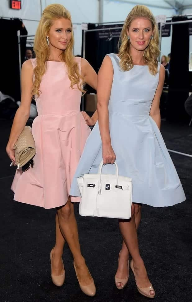 paris-hilton-nicky-hilton-new-york-fashion-week-america-september-2014_2 14 Cute Matching Outfits For Siblings That The Family Will Love