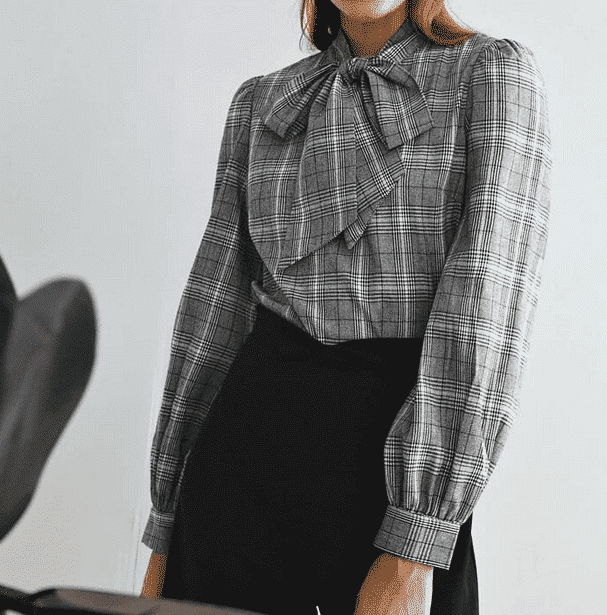 Womens Necktie Outfits 35 Ways to Wear Tie Neck Blouse
