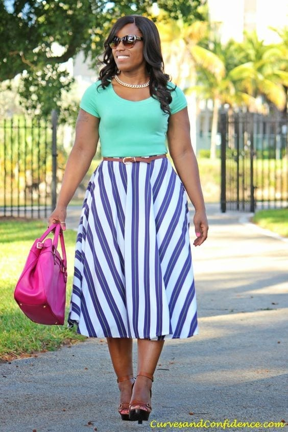 5a1684e8ae144563daae26b6b78b443d 15 Ideal Plus Size Outfits Ideas with Skirts for Curvy Ladies