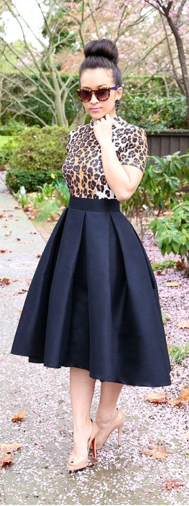 76486cb2cae5c60a93134d430dc97e8c-1 15 Ideal Plus Size Outfits Ideas with Skirts for Curvy Ladies
