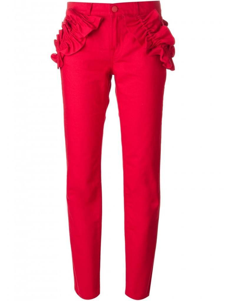 Frill-pants-768x1024 20 Ways to Wear & Style Ruffled Outfits–Ruffles Frills Fashion