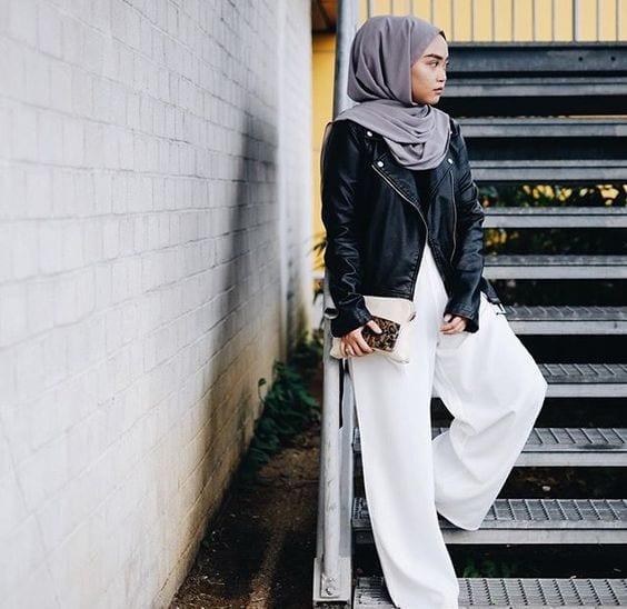 Leather-Jacket 15 Trending Kuwait Street style Fashion for Women to Follow