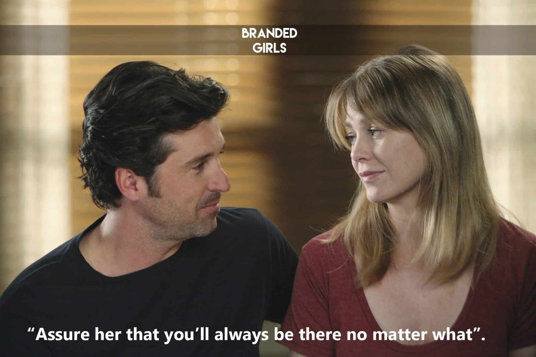 Meredith-Derek-Grey-Anatomy 50 Cute and Funny Things to say to a Girl to Impress Her
