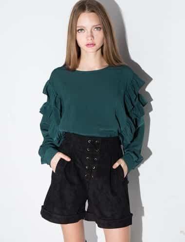 Ruffle-Sleeve 20 Ways to Wear & Style Ruffled Outfits–Ruffles Frills Fashion
