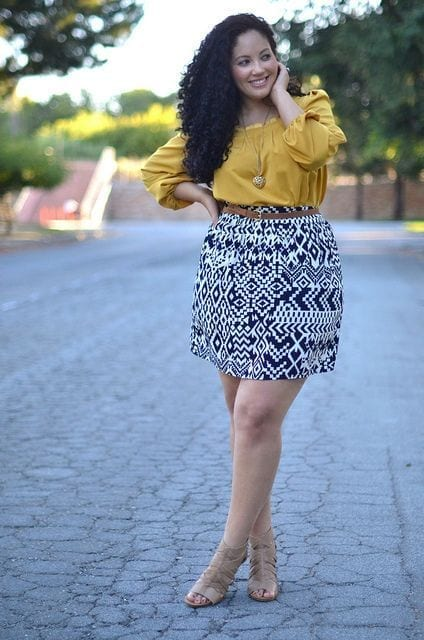a018256bb4888de24043912d300f3639-1 15 Ideal Plus Size Outfits Ideas with Skirts for Curvy Ladies