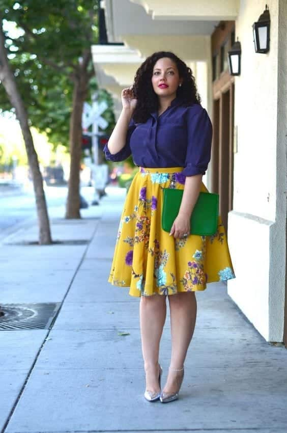 b2aa1b7aea96d147be00e7a68803a9a4 15 Ideal Plus Size Outfits Ideas with Skirts for Curvy Ladies