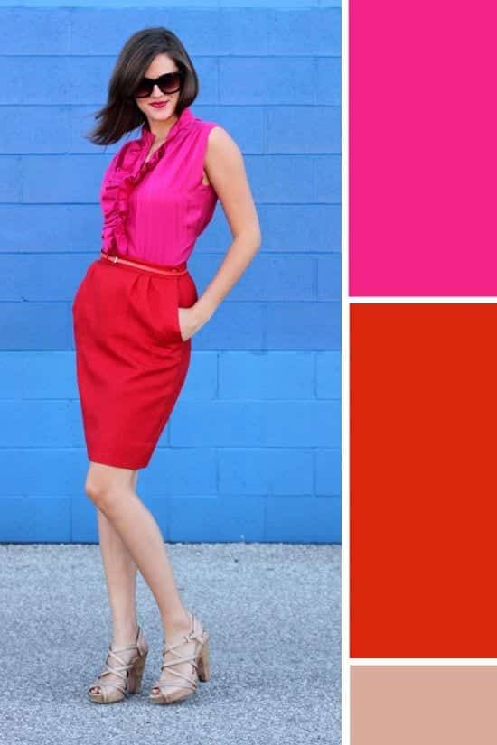 bdae1bdaff72545ad11be2a725413214 Red and Pink Combination – How To Wear a Red and Pink Outfit