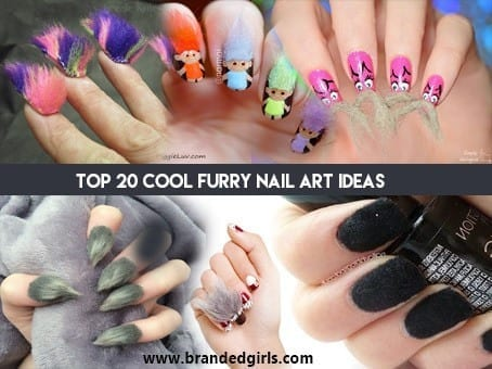 blaaaaaaaaaaaaaaaaaaaaaa Top 20 Furry Nail Art Ideas - Best of Furry Fuzzy Nail Trend