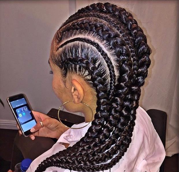 curlupanddyejanet-cornrows Cornrow Hair Styles for Girls-20 Best Ways to Style Cornrows