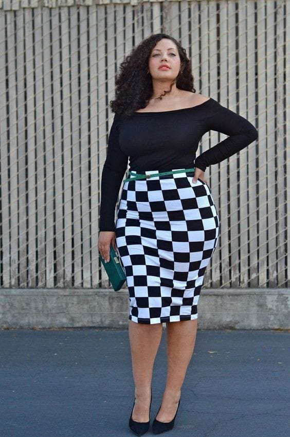 e248b540758e671685146b86968226c8 15 Ideal Plus Size Outfits Ideas with Skirts for Curvy Ladies