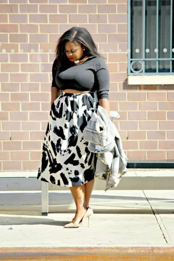 e81101b3a655dab1920e1060cd776f07-1 15 Ideal Plus Size Outfits Ideas with Skirts for Curvy Ladies