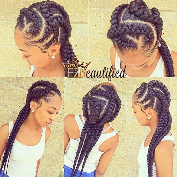 ezimprovedbeauty-kryss-kross-braids Cornrow Hair Styles for Girls-20 Best Ways to Style Cornrows