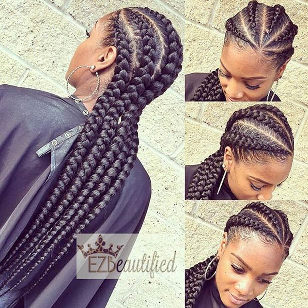 ezimprovedbeauty1 Cornrow Hair Styles for Girls-20 Best Ways to Style Cornrows