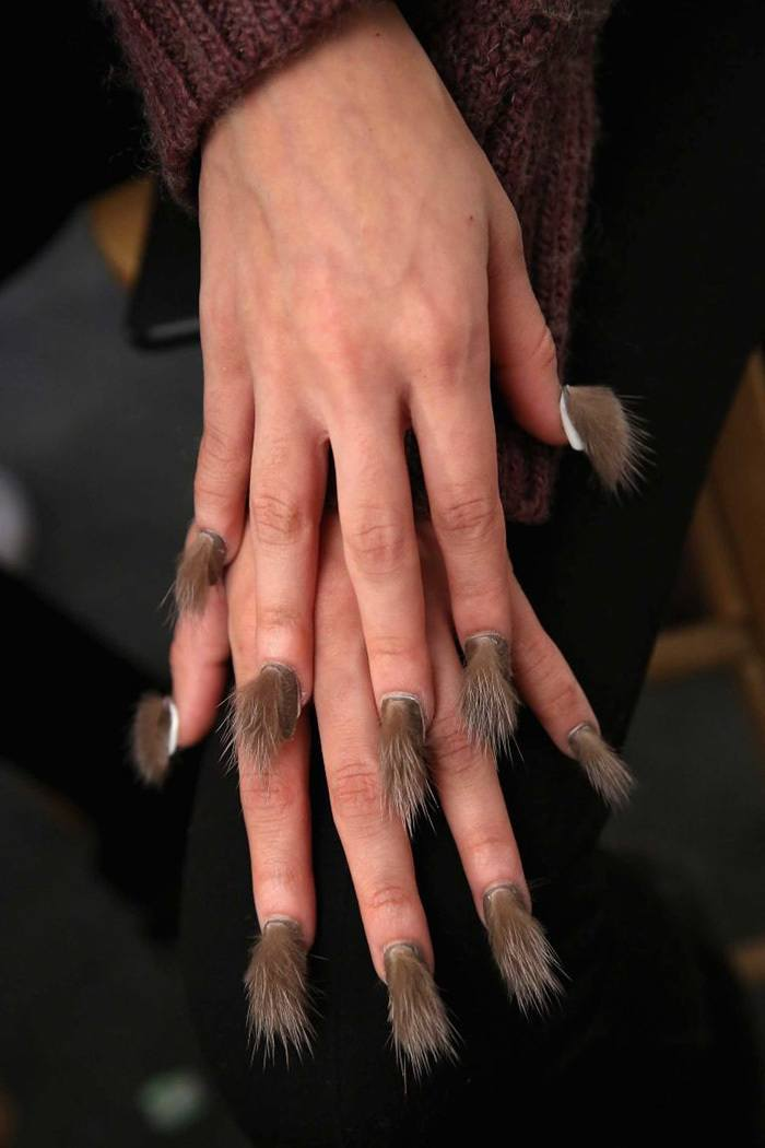 fur-nails-17__700 Top 20 Furry Nail Art Ideas - Best of Furry Fuzzy Nail Trend