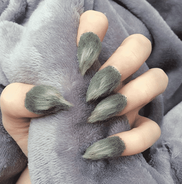 furrrr Top 20 Furry Nail Art Ideas - Best of Furry Fuzzy Nail Trend