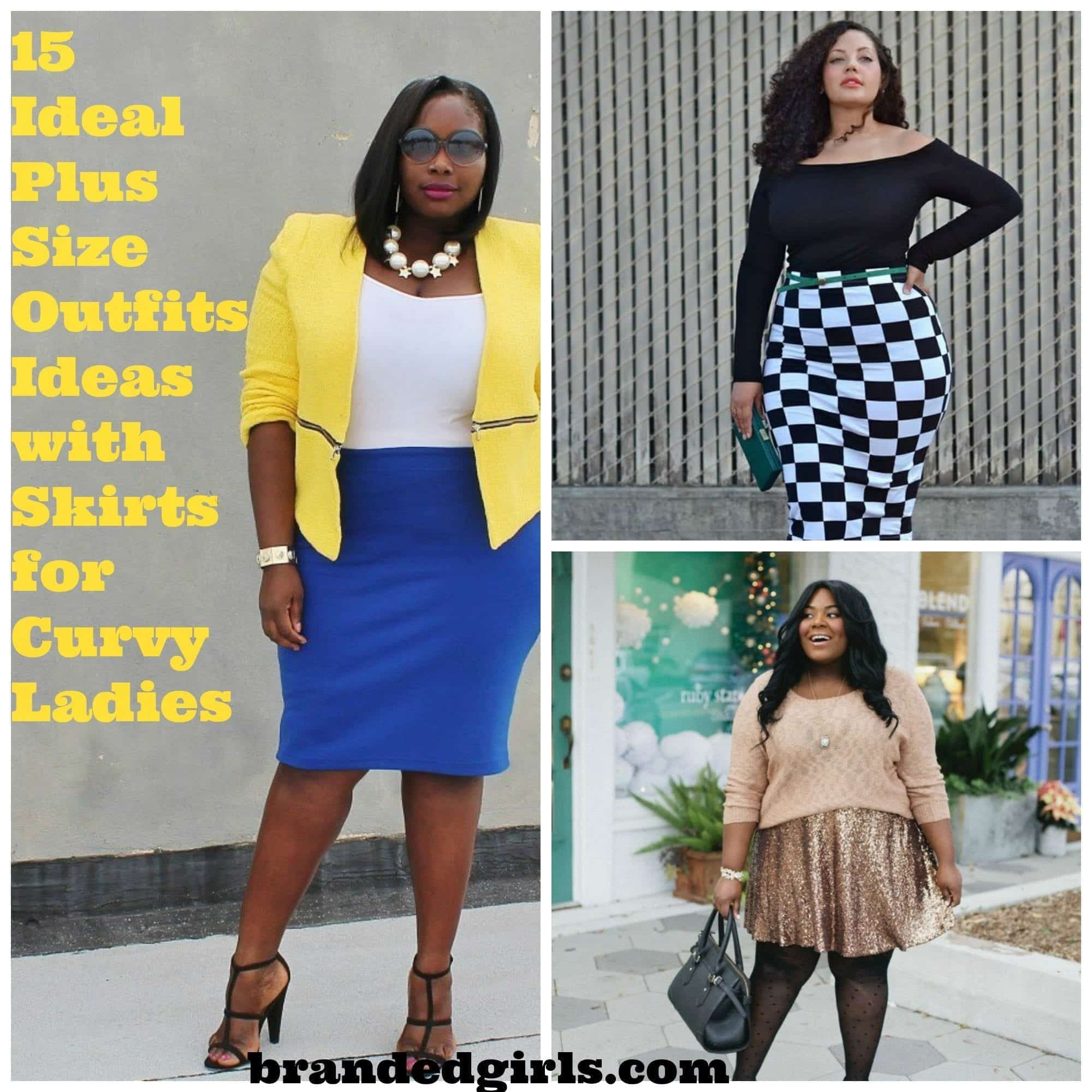 plus-size-skirts 15 Ideal Plus Size Outfits Ideas with Skirts for Curvy Ladies