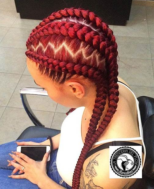 trenceriadelflow Cornrow Hair Styles for Girls-20 Best Ways to Style Cornrows