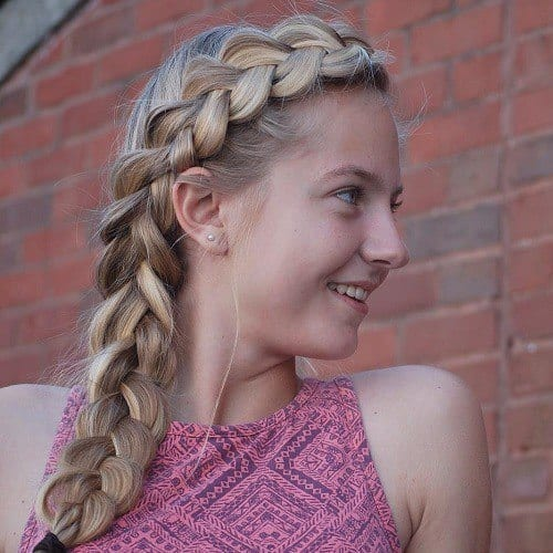 1-cute-side-braid-hairstyle-for-teens Easy and Quick Hairstyles–Top 10 Super Fast Hairstyles to Do