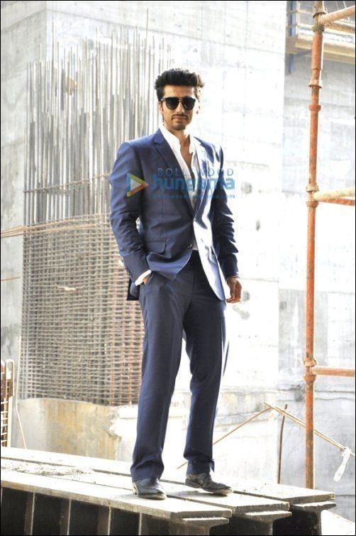 13-His-Suave-Getup-in-a-Blue-Suit-Outfit Arjun Kapoor Outfits-30 Best Dressing Styles of Arjun Kapoor to Copy