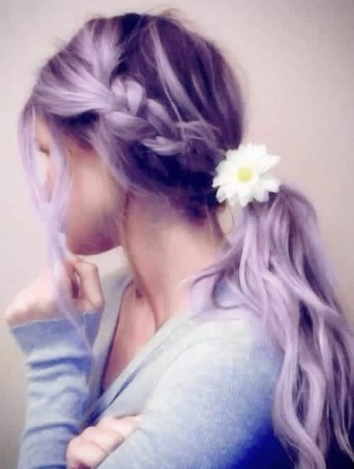 13-Side-braided-Ponytail Hairstyles For Round Face-36 Cute Hairstyles for This Year