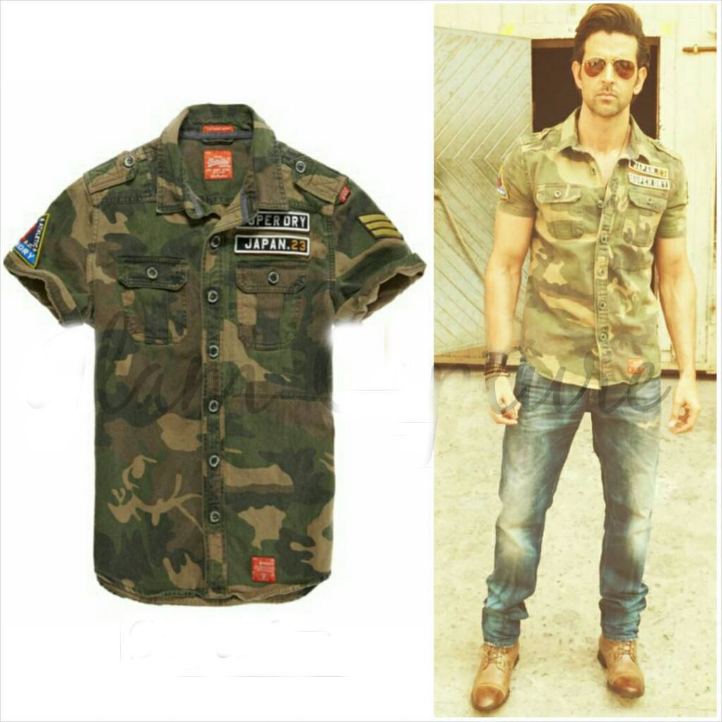 14-The-Coolest-Army-Outfit Hrithik Roshan Outfits-30 Best Dressing Styles of Hrithik Roshan