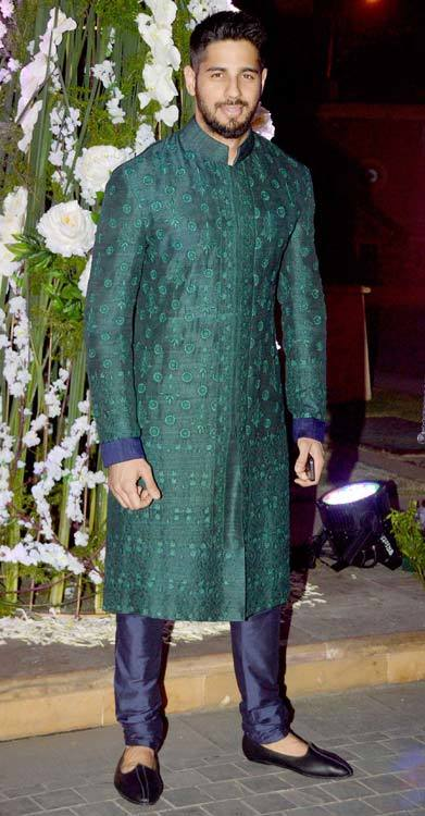 15-In-a-Classy-and-Cultural-Royal-Green-Sherwani Sidharth Malhotra Outfits-30 Best Dressing styles of Sidharth Malhotra to Copy