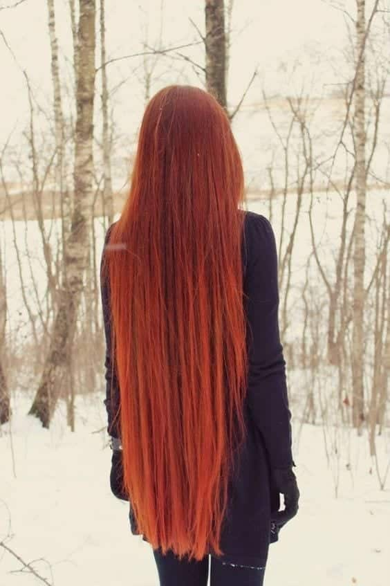 17-The-Girl-With-Classiest-Long-Red Longest Hair Women-30 Girls with Longest Hair In the World