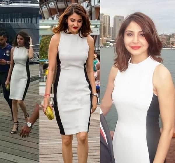 19-Anushka-Sharma-in-a-Sleek-Sydney-White-Dress Anushka Sharma Outfits-32 Best Dressing Styles of Anushka Sharma