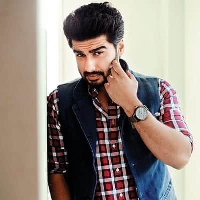 20-A-Cute-Check-Shirt-with-Waist-Coat Arjun Kapoor Outfits-30 Best Dressing Styles of Arjun Kapoor to Copy