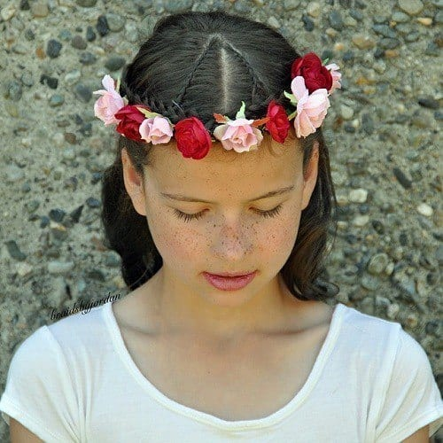 20-floral-braided-crown-hairstyle-for-girls Easy and Quick Hairstyles–Top 10 Super Fast Hairstyles to Do
