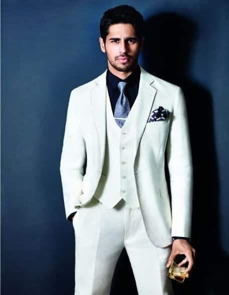 25-In-a-Brilliant-White-Tuxedo Sidharth Malhotra Outfits-30 Best Dressing styles of Sidharth Malhotra to Copy