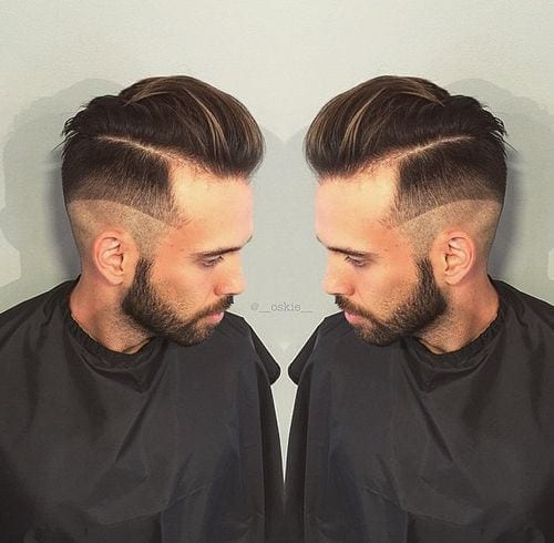 3-The-Hairstyle-with-Shaved-Art 48 New Hairstyles for Skinny Boys Trending These Days