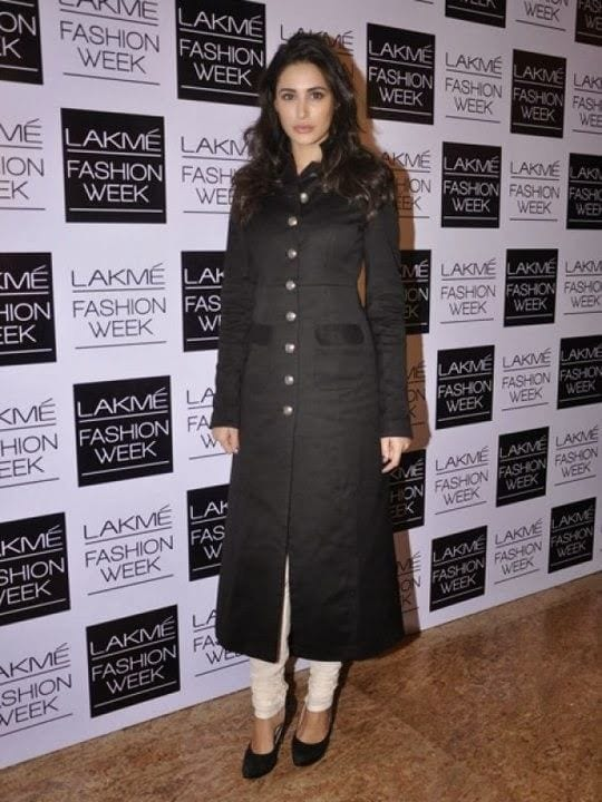 32-Nargis-Fakhri-in-a-Sophisticated-Button-down-Coat Nargis Fakhri Outfits-32 Best Looks of Nargis Fakhri to Copy