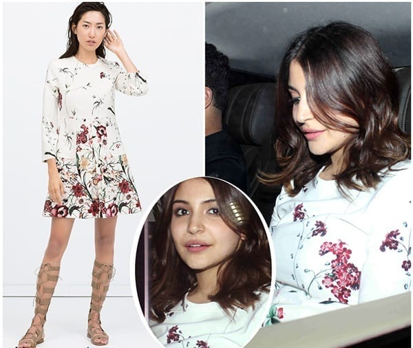 5-Anushka-Sharma-in-a-Simplistic-Floral-Summer-Outfit Anushka Sharma Outfits-32 Best Dressing Styles of Anushka Sharma