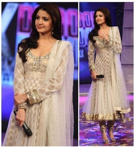 6-Anushka-Sharma-in-an-Inspiring-Anarkali-Dress Anushka Sharma Outfits-32 Best Dressing Styles of Anushka Sharma