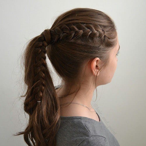6-ponytail-with-a-side-braid Easy and Quick Hairstyles–Top 10 Super Fast Hairstyles to Do