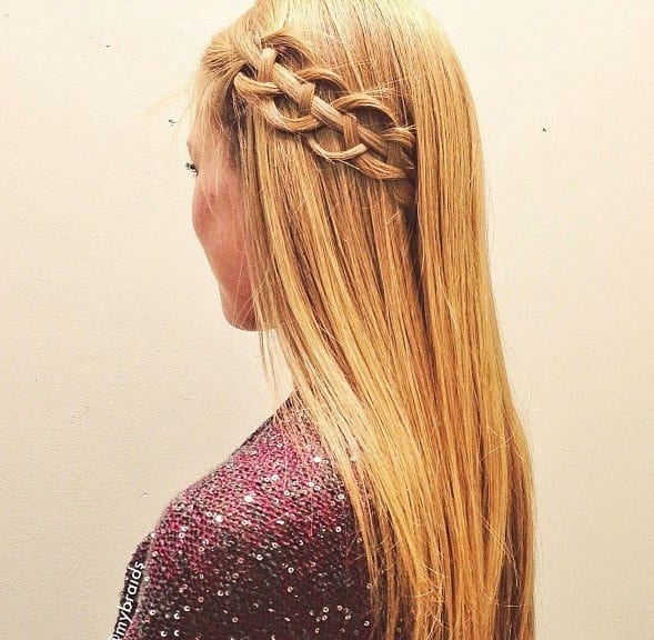 7-Classic-Vine-Braid-Hairdo Hairstyles For Round Face-36 Cute Hairstyles for This Year