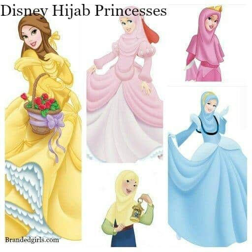 Beautiful Disney Hijabi Princesses (9)