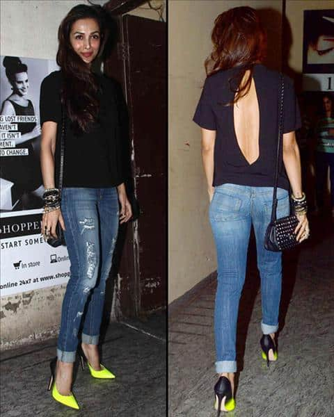 Malaika_Arora 20 Indian Celebrities Ripped Jeans Styles to Copy This Year