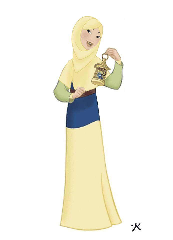 Mulan Disney Princesses in Hijab-11 Pics of Disney Princesses Muslim Version