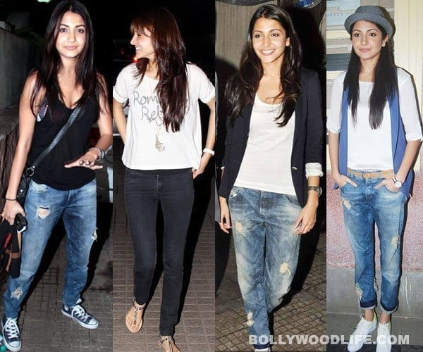 anushka-bollywood-actress-rocking-the-ripped-jeans-trend 20 Indian Celebrities Ripped Jeans Styles to Copy This Year