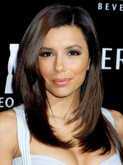 heart-face-shape-hairstyles-eva-longoria 20 Best Hairstyles for Heart Shaped Face Women